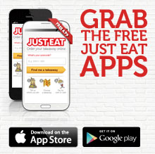 Grab the free JUST EAT apps.